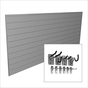 4' x 8' PVC Wall Slatwall Mini Bundle (Light Grey)