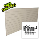 Proslat 8' x 4' PVC Wall Slatwall Mini Bundle (Sandstone)