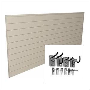 4' x 8' PVC Wall Slatwall Mini Bundle (Sandstone)