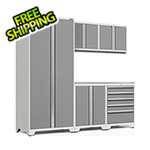 NewAge Garage Cabinets PRO Series 3.0 White 6-Piece Set with Stainless Steel Top