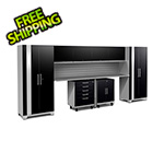 NewAge Garage Cabinets PERFORMANCE PLUS 2.0 Black 10-Piece Set with Slatwall