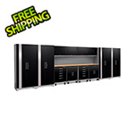 NewAge Garage Cabinets PERFORMANCE PLUS 2.0 Black 14-Piece Set with Slatwall