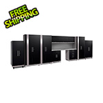 NewAge Garage Cabinets PERFORMANCE PLUS 2.0 Black 11-Piece Set with Slatwall