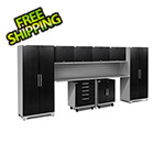 NewAge Garage Cabinets PERFORMANCE PLUS 2.0 Black Diamond Plate 10-Piece Set and Slatwall