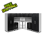 NewAge Garage Cabinets PERFORMANCE PLUS 2.0 Black Diamond 12-Piece Set with Slatwall