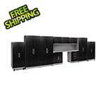 NewAge Garage Cabinets PERFORMANCE PLUS 2.0 Black Diamond Plate 11-Piece Set with Slatwall