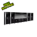 NewAge Garage Cabinets PERFORMANCE 2.0 Black 14-Piece Cabinet Set with Slatwall