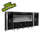 NewAge Garage Cabinets PERFORMANCE 2.0 Black 12-Piece Cabinet Set and Slatwall