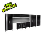 NewAge Garage Cabinets PERFORMANCE 2.0 Black 12-Piece Cabinet Set with Slatwall