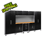 NewAge Garage Cabinets PERFORMANCE 2.0 Black Diamond Plate 9-Piece Cabinet Set with Slatwall