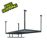 NewAge Overhead Storage VersaRac 4' x 8' Adjustable Ceiling Rack with 2 Hanging Bars