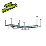 NewAge Overhead Storage VersaRac 4' x 8' Two Adjustable Ceiling Rack with 4 Hanging Bars