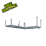 NewAge Overhead Storage VersaRac 4' x 8' Two Adjustable Ceiling Rack with 10 Piece Accessory Kit
