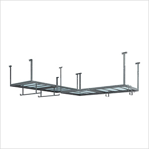 VersaRac 4' x 8' Two Adjustable Ceiling Rack with 6 Piece Accessory Kit