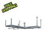 NewAge Overhead Storage VersaRac 4' x 8' Two Adjustable Ceiling Rack with 20 Piece Accessory Kit