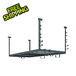 NewAge Overhead Storage VersaRac 4' x 8' Adjustable Ceiling Rack with 20 Piece Accessory Kit