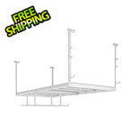 NewAge Overhead Storage VersaRac 4' x 8' Adjustable Ceiling Rack with 8 Piece Accessory Kit
