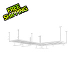 NewAge Overhead Storage VersaRac 4' x 8' Two Adjustable Ceiling Rack with 14 Piece Accessory Kit