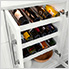 6-Piece Shaker Style Home Bar Cabinet System (White)