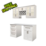 NewAge Home Bar 6-Piece Shaker Style Home Bar Cabinet System (White)