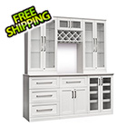 NewAge Home Bar 7-Piece Shaker Style Home Bar Cabinet System (White)