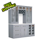 NewAge Home Bar 7-Piece Shaker Style Home Bar Cabinet System (Grey)