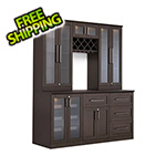 NewAge Home Bar 7-Piece Shaker Style Home Bar Cabinet System (Espresso)