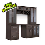 NewAge Home Bar 8-Piece Shaker Style Home Bar Cabinet System (Espresso)