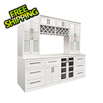 NewAge Home Bar 9-Piece Shaker Style Home Bar Cabinet System (White)