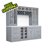 NewAge Home Bar 9-Piece Shaker Style Home Bar Cabinet System (Grey)