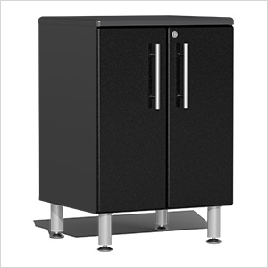 2-Door Base Garage Cabinet in Midnight Black Metallic