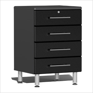 4-Drawer Base Garage Cabinet in Midnight Black Metallic