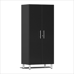 2-Door Tall Garage Cabinet in Midnight Black Metallic