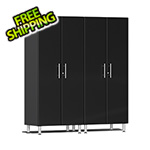 Ulti-MATE Garage Cabinets 2-Piece Tall Garage Cabinet Kit in Midnight Black Metallic