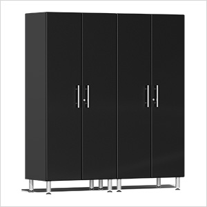 2-Piece Tall Garage Cabinet Kit in Midnight Black Metallic