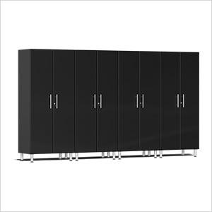 4-Piece Tall Garage Cabinet Kit in Midnight Black Metallic