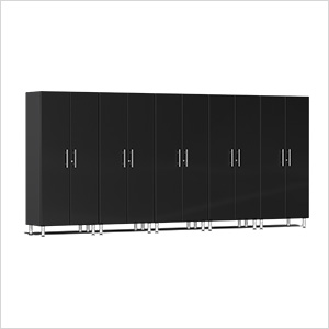 5-Piece Tall Garage Cabinet Kit in Midnight Black Metallic
