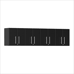 4-Piece Garage Wall Cabinet Kit in Midnight Black Metallic