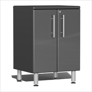 2-Door Base Garage Cabinet in Graphite Grey Metallic