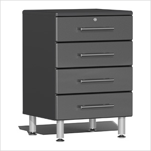 4-Drawer Base Garage Cabinet in Graphite Grey Metallic
