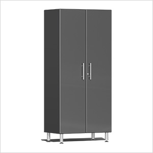 2-Door Tall Garage Cabinet in Graphite Grey Metallic