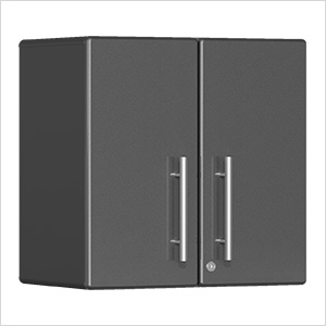 2-Door Wall Garage Cabinet in Graphite Grey Metallic