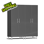 Ulti-MATE Garage Cabinets 2-Piece Tall Garage Cabinet Kit in Graphite Grey Metallic
