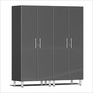 2-Piece Tall Garage Cabinet Kit in Graphite Grey Metallic