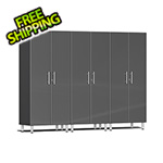 Ulti-MATE Garage 2.0 Series 3-Piece Tall Cabinet Kit in Graphite Grey Metallic