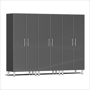 3-Piece Tall Garage Cabinet Kit in Graphite Grey Metallic