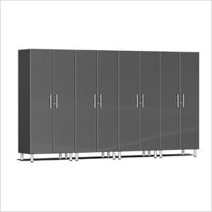 4-Piece Tall Garage Cabinet Kit in Graphite Grey Metallic