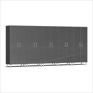 5-Piece Tall Garage Cabinet Kit in Graphite Grey Metallic