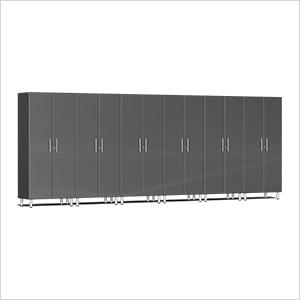 6-Piece Tall Garage Cabinet Kit in Graphite Grey Metallic