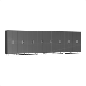 8-Piece Tall Garage Cabinet Kit in Graphite Grey Metallic